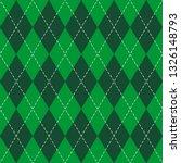 St. Patricks Day Argyle Plaid....