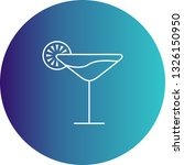 vector cocktail icon  | Shutterstock .eps vector #1326150950