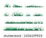 green grass on a transparent... | Shutterstock .eps vector #1326159923