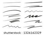 hand drawn underlines on white. ... | Shutterstock .eps vector #1326162329