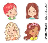 set with girl's faces. userpics ... | Shutterstock .eps vector #1326162650