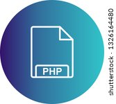 vector php icon  | Shutterstock .eps vector #1326164480