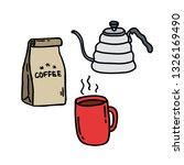 coffee kit doodle icon | Shutterstock .eps vector #1326169490