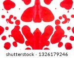 red brush stroke isolated on... | Shutterstock . vector #1326179246