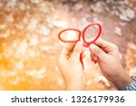 scout knot learning in forest... | Shutterstock . vector #1326179936
