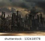 dead city | Shutterstock . vector #132618578