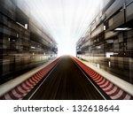 racetrack in glass business... | Shutterstock . vector #132618644