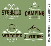 camping and adventure emblems... | Shutterstock .eps vector #1326188426