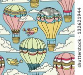 cute seamless pattern with hot... | Shutterstock .eps vector #132621944