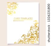 invitation greeting card with... | Shutterstock .eps vector #1326231800