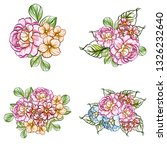 flowers set. collection of... | Shutterstock . vector #1326232640