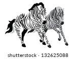 white zebras | Shutterstock .eps vector #132625088