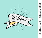 banner with a text welcome... | Shutterstock .eps vector #1326255803