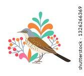 vector illustration with thrush ...   Shutterstock .eps vector #1326266369