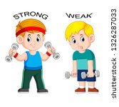 opposite adjective with strong... | Shutterstock .eps vector #1326287033