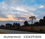 trees and sunset atmosphere | Shutterstock . vector #1326291836