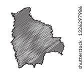 drawing map on blackboard of... | Shutterstock .eps vector #1326297986