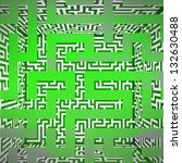 green three dimensional maze... | Shutterstock . vector #132630488