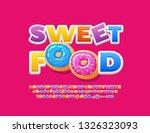 vector tasty emblem sweet food... | Shutterstock .eps vector #1326323093
