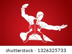 kung fu fighter  martial arts... | Shutterstock .eps vector #1326325733