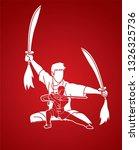 kung fu fighter  martial arts... | Shutterstock .eps vector #1326325736