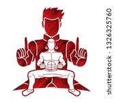 kung fu fighter  martial arts... | Shutterstock .eps vector #1326325760