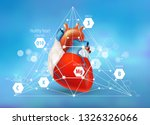healthy heart. vitamins and... | Shutterstock .eps vector #1326326066