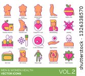 men and women health icons... | Shutterstock .eps vector #1326338570