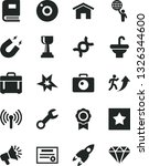 solid black vector icon set  ... | Shutterstock .eps vector #1326344600