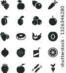 solid black vector icon set  ... | Shutterstock .eps vector #1326346280