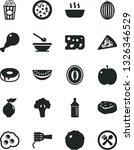 solid black vector icon set  ... | Shutterstock .eps vector #1326346529