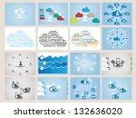 mega collection web cloud...   Shutterstock . vector #132636020