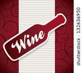 wine bottle over red background....   Shutterstock .eps vector #132636950
