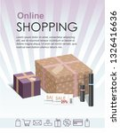 shopping online concept with... | Shutterstock .eps vector #1326416636