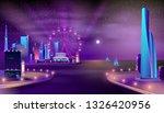 modern metropolis seafront neon ... | Shutterstock .eps vector #1326420956