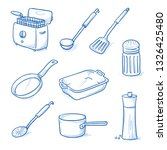 set of kitchen objects and... | Shutterstock .eps vector #1326425480