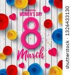 happy women's day 8 march... | Shutterstock .eps vector #1326433130