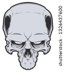 evil skull illustartion.... | Shutterstock . vector #1326437600