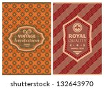 invitation vintage retro cards... | Shutterstock .eps vector #132643970