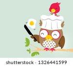cute birds cartoon with funny... | Shutterstock .eps vector #1326441599