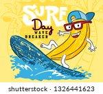funny banana cartoon playing... | Shutterstock .eps vector #1326441623