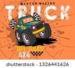 monster truck cartoon on... | Shutterstock .eps vector #1326441626