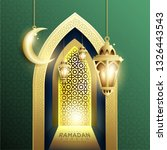 elegant design of ramadan... | Shutterstock .eps vector #1326443543