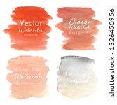 orange abstract watercolor... | Shutterstock .eps vector #1326450956
