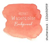 orange abstract watercolor... | Shutterstock .eps vector #1326450959