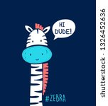 sweet zebra illustration vector. | Shutterstock .eps vector #1326452636