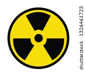 radioactive sign on white... | Shutterstock . vector #1326461723
