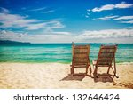 two sitting place in a tropical ... | Shutterstock . vector #132646424