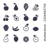 set of icons of fruit. a vector ... | Shutterstock .eps vector #1326465743