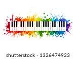 creative rainbow musical... | Shutterstock .eps vector #1326474923